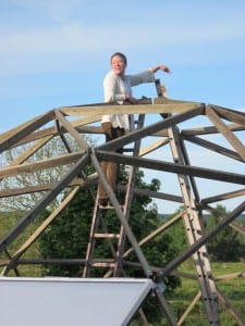 Growing Dome Greenhouse build in Sweden