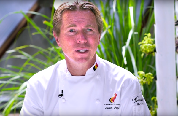 chef Danial Joly of Mirabelle farm to table restaurant greenhouse