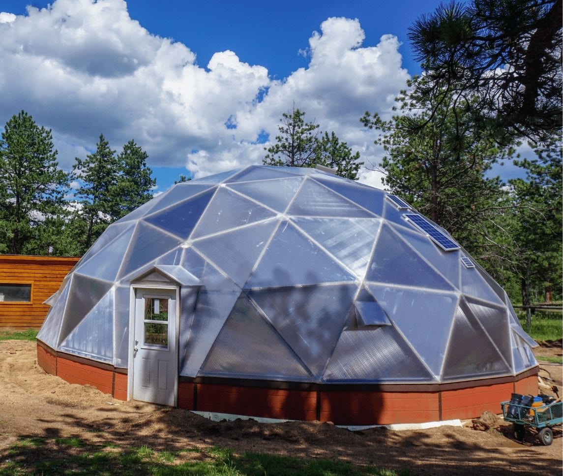 Growing Dome Geodesic Insulated Greenhouse 42'