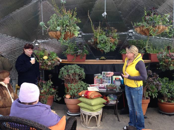 Kerry during a succulent presentation to local garden club