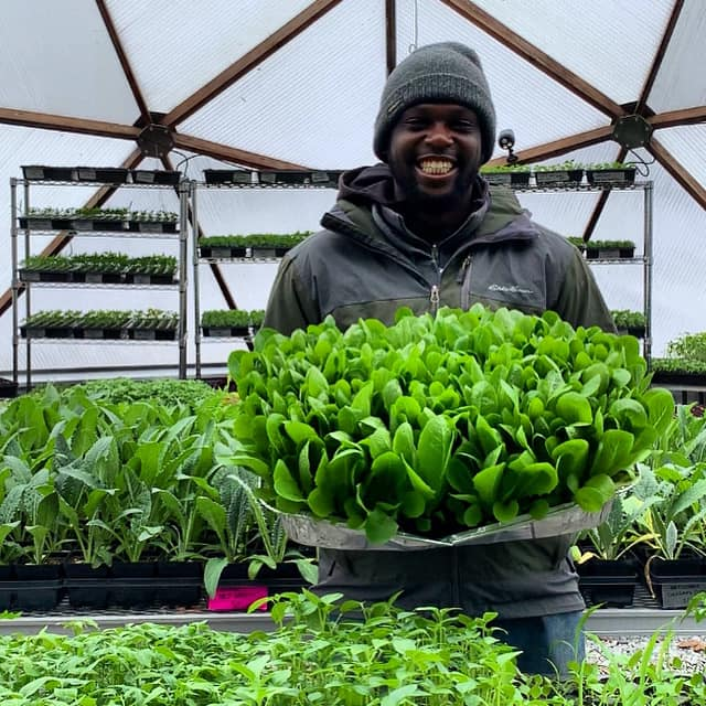 Urban Growers Initiative Farming in a Growing Dome Greenhouse