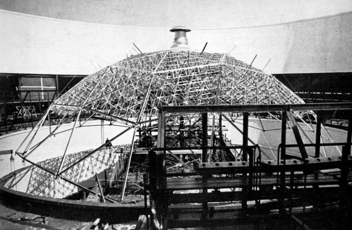 Ford Rotunda geodesic dome structure