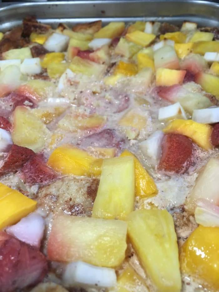 Enjoy Rackels Bread Pudding in the Growing Dome Greenhouse