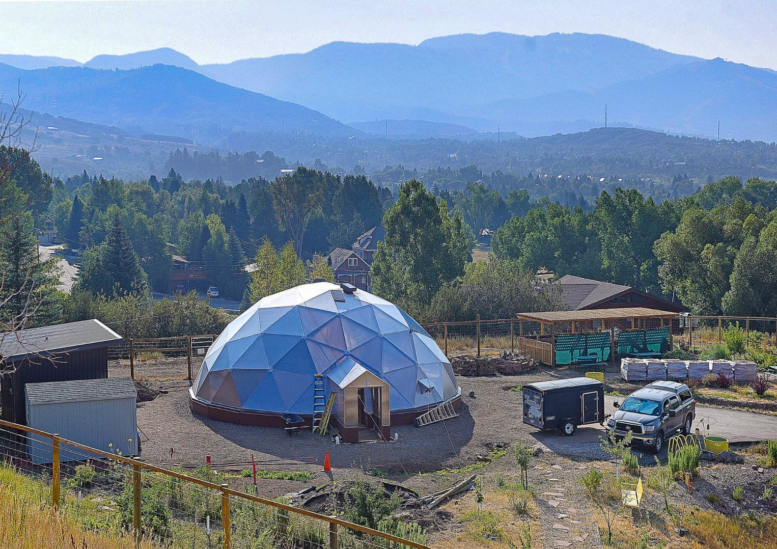 Colorado Mountain College Growing Dome in Steamboat Springs Colorado