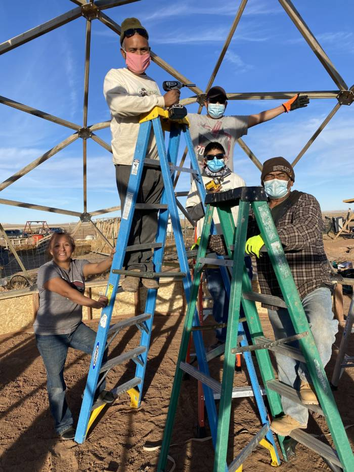 Navajo Nation Growing Dome Greenhouse Build with Tyrone Thompson