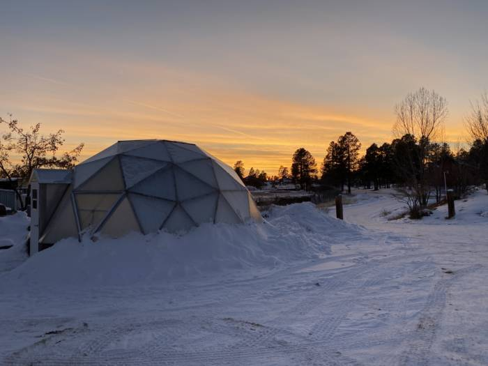 Growing Dome Greenhouse Sunset Pagosa