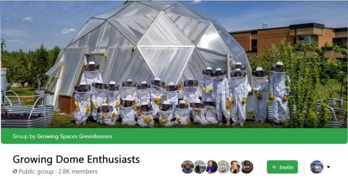 Facebook Growing Dome Enthusiasts