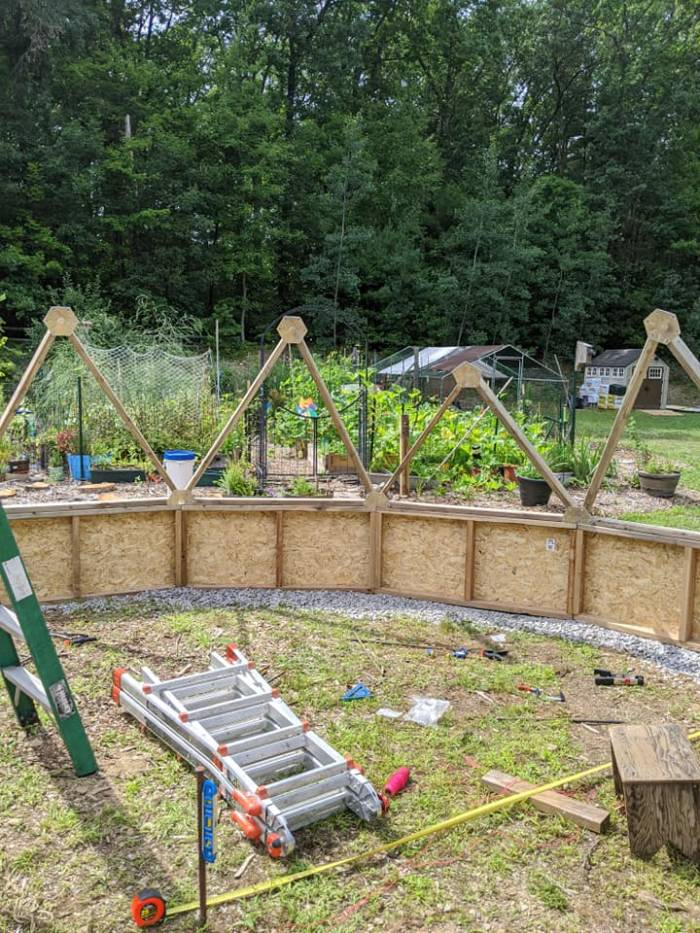 Building the greenhouse kit