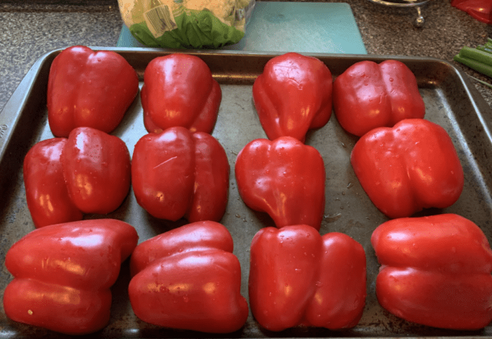 roasting red peppers for cold soup recipe